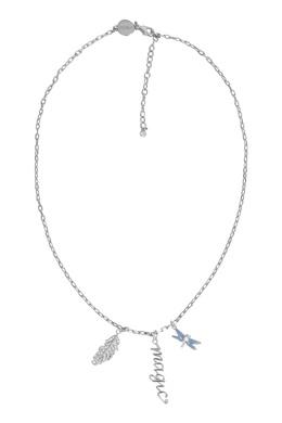 Серебристое колье Feather Furla 1962169653