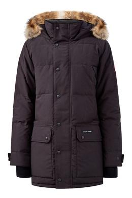 Черная парка с воротником-стойкой и накладным карманами Canada Goose 2521170314