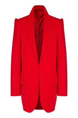 Красный пиджак с усиленной линией плеч Balenciaga 397170942