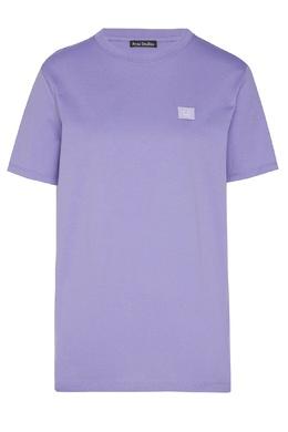 Сиреневая хлопковая футболка Acne Studios 876171552
