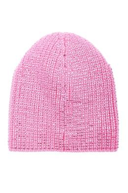 Розовая шапка-бини с кристаллами Ermanno Scervino 1328171891