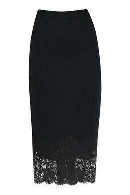 Черная юбка с кружевом Ermanno Scervino 1328171628