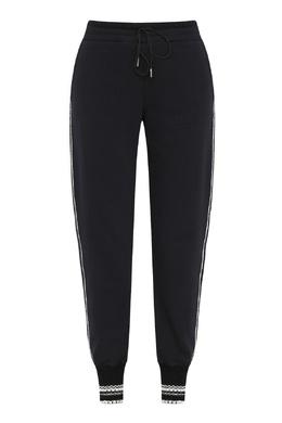 Черные брюки-джоггеры с отделкой Ermanno Scervino 1328171886