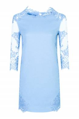 Голубое платье с полупрозрачными рукавами Ermanno Scervino 1328171713