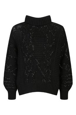 Черный свитер с кристаллами Ermanno Scervino 1328171825