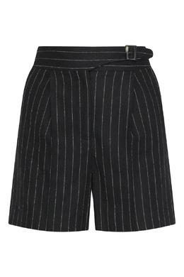 Черные шорты со стрелками в полоску Ermanno Scervino 1328171945