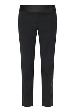 Укороченные черные брюки с лампасами Ermanno Scervino 1328171947