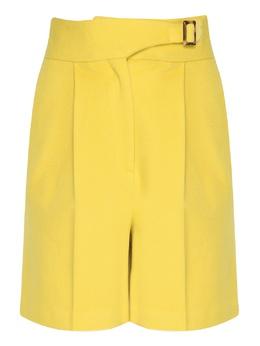 Желтые шорты с защипами и стрелками Ermanno Scervino 1328171940