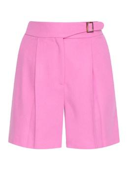 Розовые шорты с защипами и стрелками Ermanno Scervino 1328171941