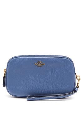 Синий клатч Sadie с ремешком Coach 2219173009