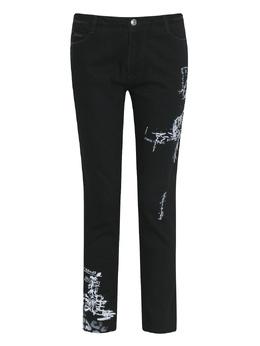 Черные джинсы с узорами Ermanno Scervino 1328171955