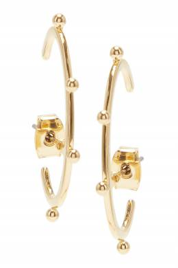 Золотистые серьги-клаймберы с круглыми деталями Lisa Smith 1168172864