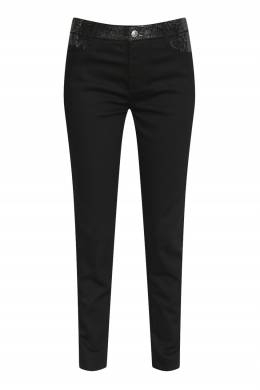 Черные джинсы-скинни с кристаллами Ermanno Scervino 1328171966
