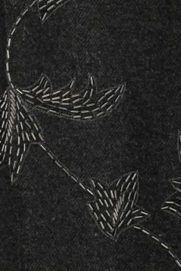 Темно-серые брюки с вышивкой стеклярусом Ermanno Scervino 1328171927