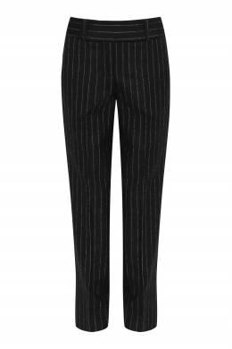 Черные брюки с отделкой в полоску Ermanno Scervino 1328171931