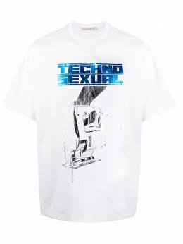Christopher Kane футболка оверсайз с принтом SS20TS442