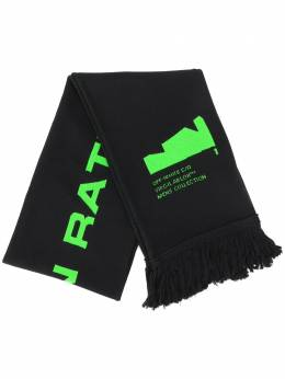 Off-White ARCH SHAPES SCARF BLACK BRILLIANT GREEN OMMA001R204070061045