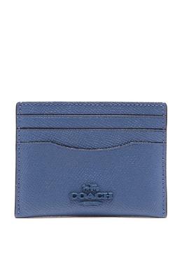 Синяя кожаная визитница Coach 2219172883