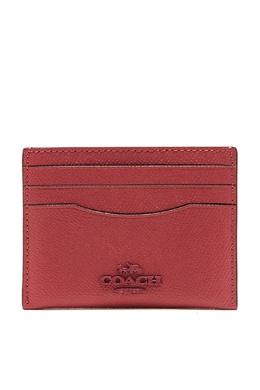 Темно-розовая кожаная визитница Coach 2219172878