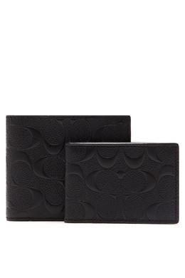 Кожаный кошелек с монограммами Coach 2219141401