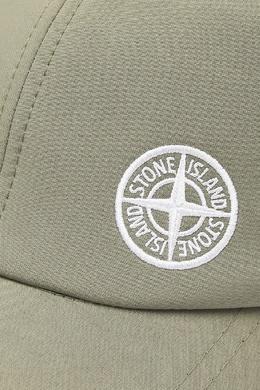 Серо-зеленая бейсболка с логотипом Stone Island 1701173548