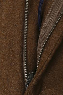 Коричневые брюки из шерсти Incotex 3114173426