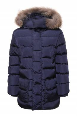 Синяя куртка с карманами и капюшоном Il Gufo 1205172545