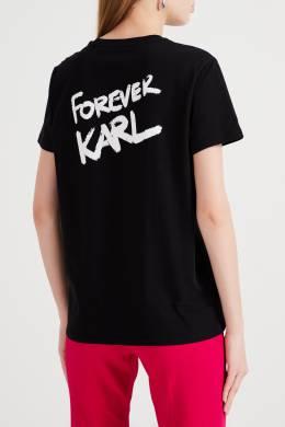 Черная футболка с надписью на груди Karl Lagerfeld 682173226