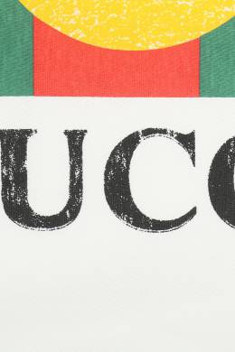 Белая футболка с фирменным логотипом Gucci Kids 1256172694
