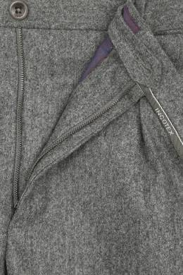 Серые брюки с защипами Incotex 3114173442