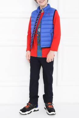 Синий стеганый жилет Ralph Lauren Kids 1252173329