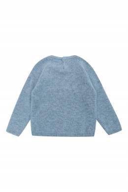 Голубой джемпер с вышивкой Il Gufo 1205172767