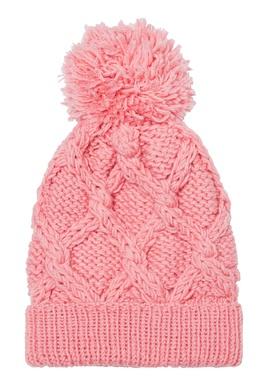 Розовая шапка с узором и помпоном Blank.Moscow 92172839