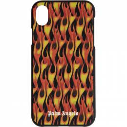Palm Angels Black and Red Flames iPhone XR Case PMPA008R207350131088