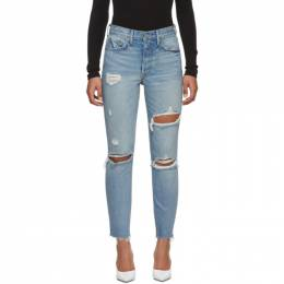 Grlfrnd Blue Karolina High-Rise Jeans GF4004131-S17