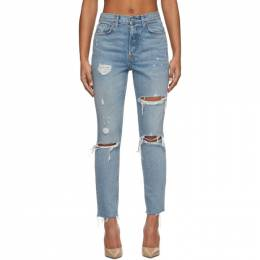 Grlfrnd Blue Karolina Butt Slit Jeans GF400401-S17
