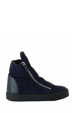 Высокие ботинки синего цвета Giuseppe Zanotti Design 2096174283