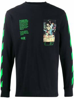 Off-White PASCAL PAINTING L/S TEE BLACK MULTICOLOR OMAB001R201850141088