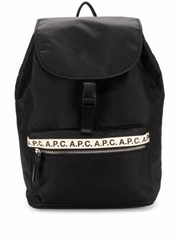 A.P.C. Repeat logo backpack PAACLH62118