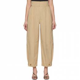 Givenchy Beige High-Waisted Trousers BW50CN12PY