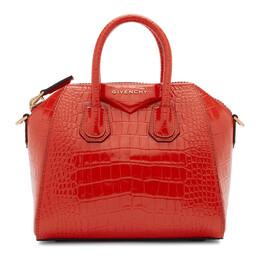 Givenchy Red Croc Mini Antigona Bag BB500JB0LK