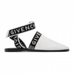 Givenchy White Ankle Strap Mules BE200SE0MR