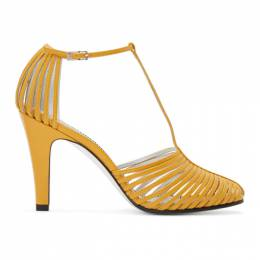 Givenchy Yellow Mignon Cage Sandals BE3042E0N1