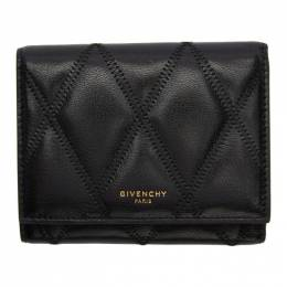 Givenchy Black Diamond Quilted Trifold Wallet BB608UB08Z