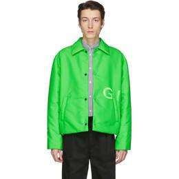 Givenchy Green Short Padded Coach Jacket BM00EX12KR