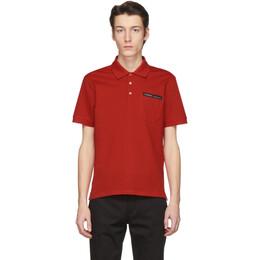 Givenchy Red Tape Logo Polo BM70U73006