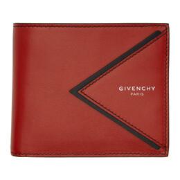 Givenchy Red V-Shape Cut Bifold Wallet BK6005K0UM
