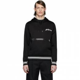 Alexander McQueen Black Embroidered Logo Hoodie 595592QOZ83