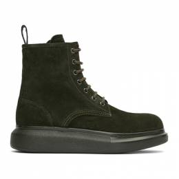 Alexander McQueen Green Suede Lace-Up Boots 586191WHXK1