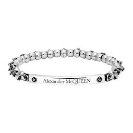 Alexander McQueen Silver Skull Bracelet 554588J160Y